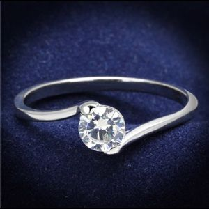 925 Sterling Silver Ring Rhodium AAA Grade CZ